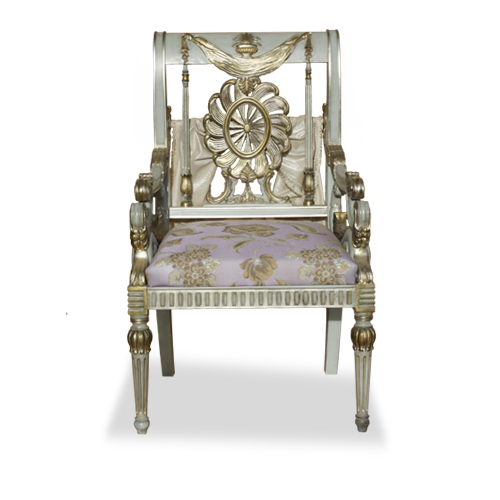 Neoclassical Armchair lacquered - Mod. Johanna MGC Mariani