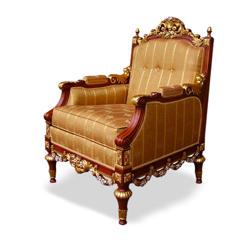 Classical Luxury Armchair with gold leaf - Mod. Camilla MGC Mariani