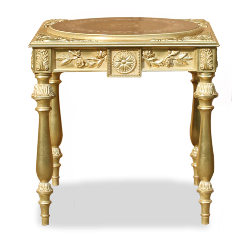 Luxury Side Table, Carved, Inalyed top, Made in Italy