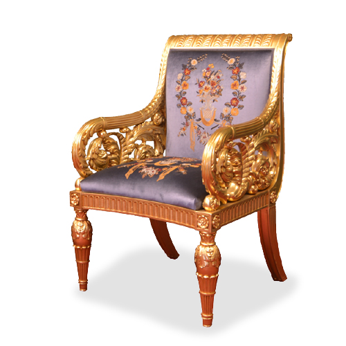 Neoclassical style armchair